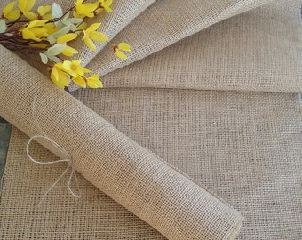 """Burlap Table Runner 12"""" wide, Rustic/Country Wedding Reception Table Runner, Shabby Chic Decor, Rustic Table Runner, Party Table Runner"""