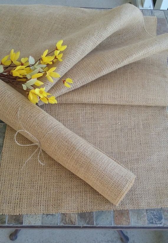 Burlap table runner 12 wide rustic country wedding for 12 wide table