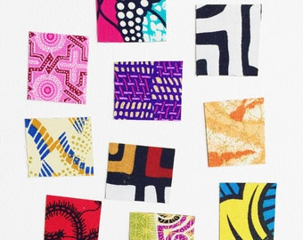 African Print Refrigerator Magnets // Fabric Fridge Magnets // Ankara Print Magnets
