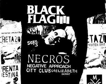 Black Flag, Necros, Negative Approach Gig T-Shirt