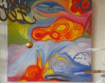"large canvas ""pelican"""