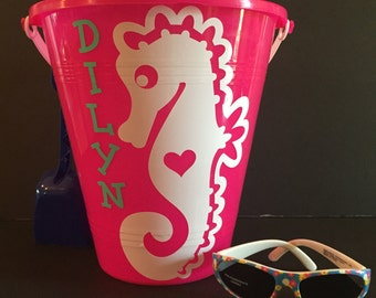 Personalized Beach Buckets and Sunglasses
