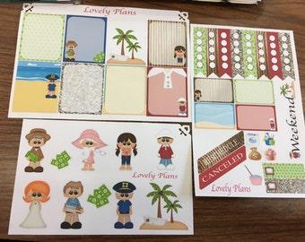 Giligan's Island Inspired Planner Stickers