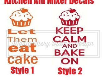 Kitchen Aid Mixer Decals - Funny