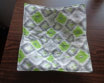 Lime Green and Gray Bowl Mitt
