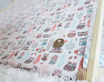 Childrens play tent, indoor tent, kids house, nursery decor, clothes hanger, owl pattern