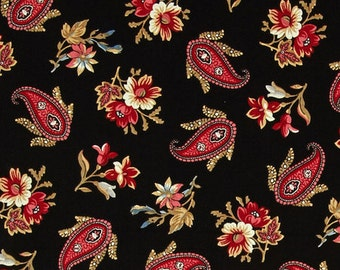 Penny Rose Reproduction Victoria - Black Fabric