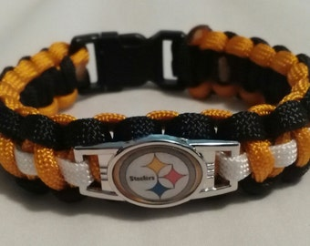 NFL Pittsburgh Steelers Paracord Bracelet with Charm