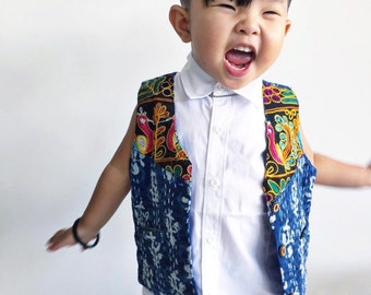 Unisex Kantha Vest 4T, Boys Vest, Hippie Wedding, Junior Usher, Toddler Boys Clothing, Hippie Boy, Hippie Kids, Groomsman