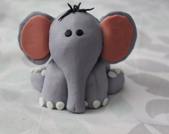 Baby Elephant cake topper.