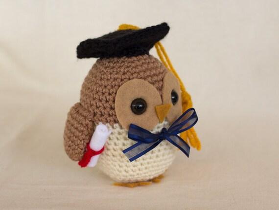 Graduation Owl Crochet Pattern, Owl Amigurumi, Crocheted ...