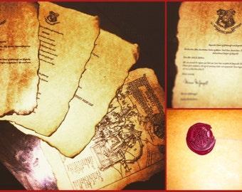 Handmade Harry Potter HOGWARTS acceptance letter