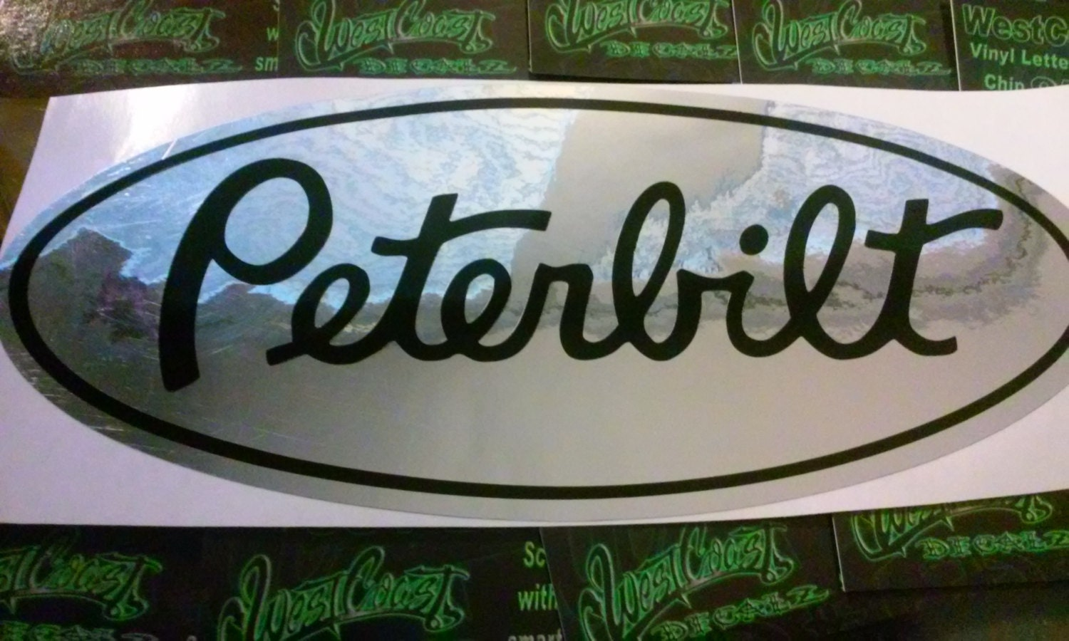 1 Peterbilt Chrome Vinyl Decal Semi Truck Custom Stickers