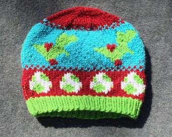 Knitting Patterns For Yoshi : Knit yoshi Etsy