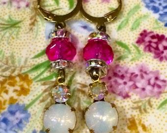 Pearly Pink Bridesmaid Earrings