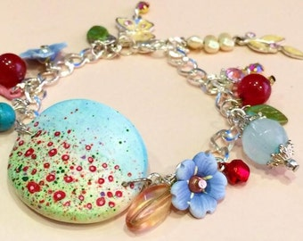 The Poppy Field Charm Bracelet