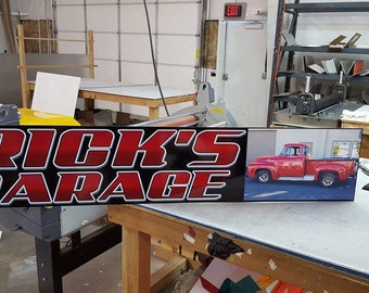 Classic Car Garage Signs