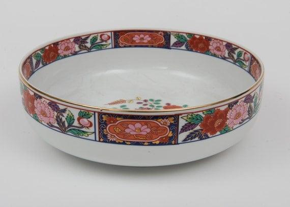 Vintage Chinese Oriental Famille floral Decorative Porcelain Plate