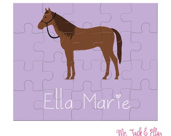 Horse Puzzle - Personalized Puzzle for Kids - Children Puzzles - Jigsaw Puzzle - Personalized Name Puzzle - 8 x 10 puzzle - Gift