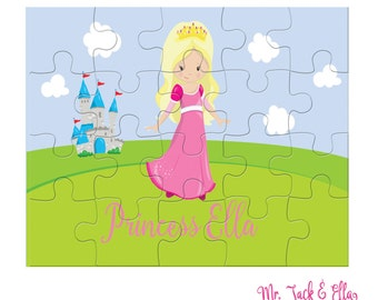 Princess Puzzle - Personalized Puzzle for Kids - Children Puzzles - Jigsaw Puzzle - Personalized Name Puzzle - 8 x 10 puzzle - Gift