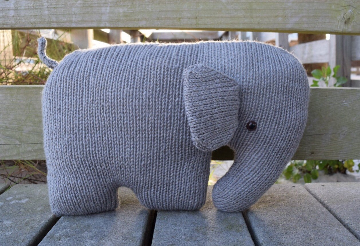 Elephant Pillow Nursery Pillow Elephant Cushion Stuffed Etsy