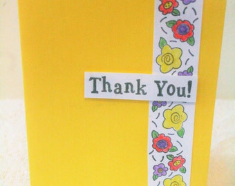 Yellow Handmade 3D Thank You Card