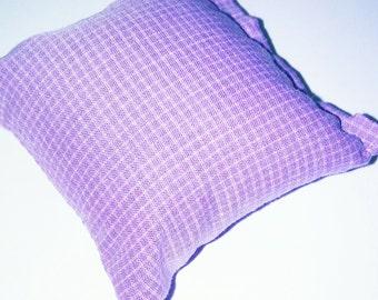 Purple checkered print catnip pillow!