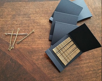 Matchbook of Bobby pins