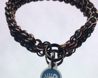 Captive bead dog collar