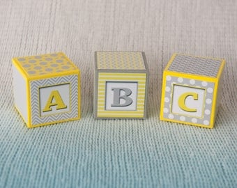Nursery Blocks - baby shower gift - Alphabet blocks - Baby shower decorNumber Blocks  -  Custom Blocks - Keepsake- Nursery Blocks