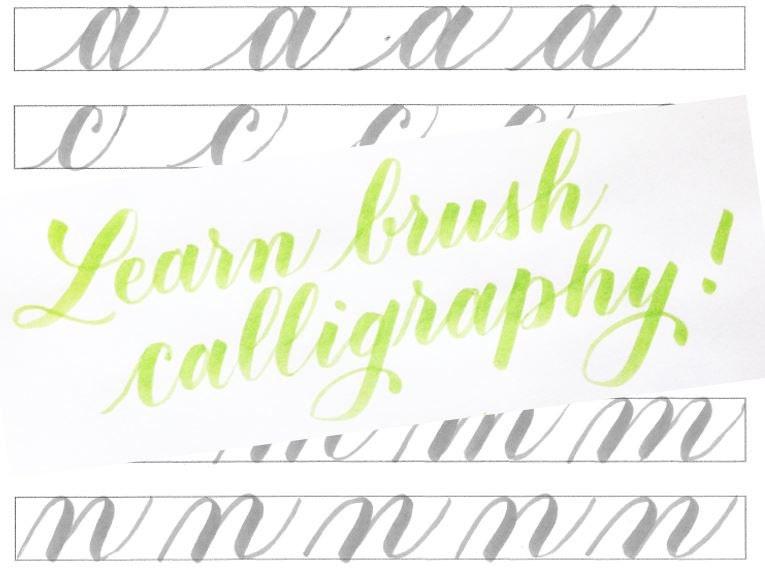 Learn Brush Calligraphy Kit Downloadable Handlettering