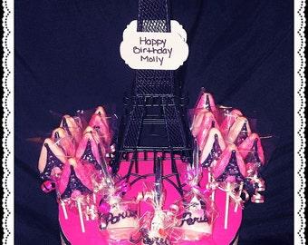 Paris Themed Cake Pops