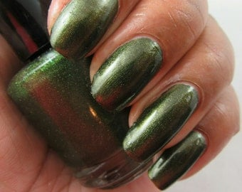 Serpent - green nail polish, The Creation Collection