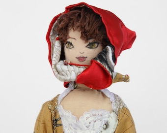 Red Ridding Hood (double satin hat)