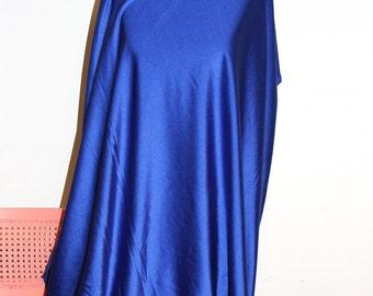 Royal Blue Shiny Tricot Nylon Spandex Lycra Fabric Bright High Quality 4-Way Stretch