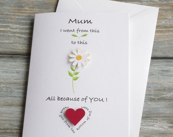 Mum Birthday Card, Mum Mothers Day Card,Mom Birthday Card, Mom Mothers Day Card,Mum Thank You Card,Mum Card,Mom Card, Mum Love you Card,UK