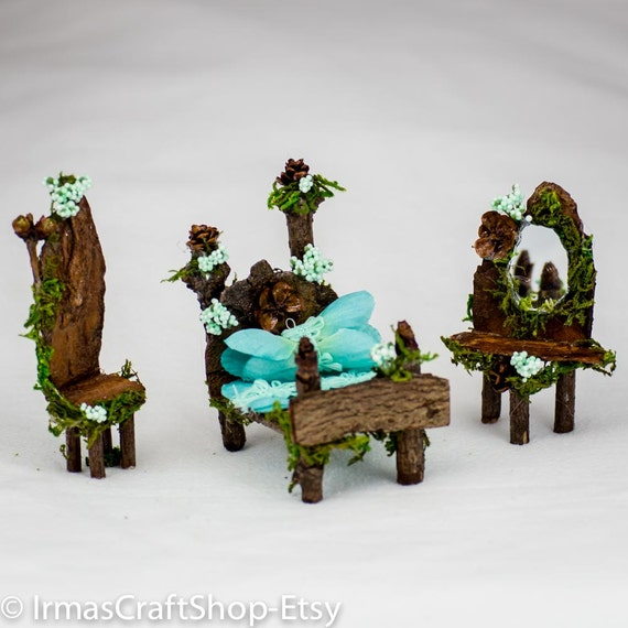 Fairy Garden Adorable Twig Bedroom Set By Irmascraftshop On Etsy