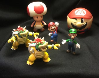 Super Mario action figures Mario Brothers
