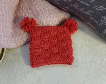 Baby Hat/Infant Hat/Basket Weave Hat/Crochet Baby Hat/Crochet Basket Weave Hat/Pom Pom Hat/Pom Pom Baby Hat