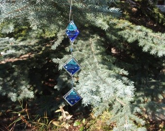 Fused Glass Suncatcher - Blue