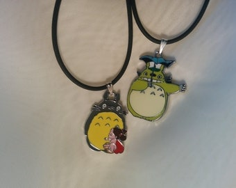 Two charm Totoro necklaces