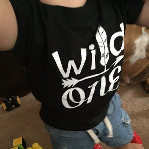 Wild One Birthday Child Shirt Boys 1st Present Boy 1 Year