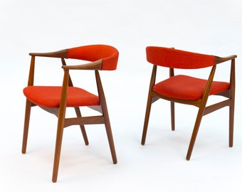 Mid Century Modern, Danish Modern chairs (PAIR)