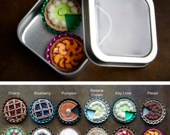 Set of 2 Petite Pies Mini Magnets