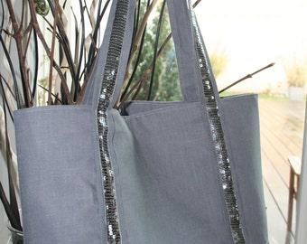 Glitter style VB grey bag