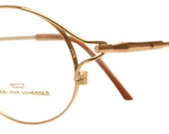 Jean-Louis Scherrer AGDE Fine Vintage Gold Glasses