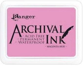 Ranger Archival Ink Magenta Hue - Pink Ink - Archive Ink - Pink Archive Ink - Ranger Pink Ink - Permanent Pink Ink - Waterproof Ink