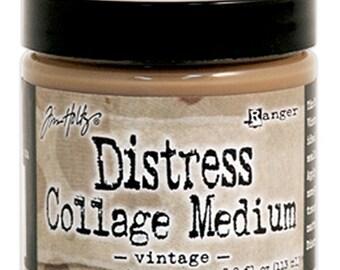 Tim Holtz Distress Collage Medium Vintage - Collage Medium - Ranger Collage Medium Vintage - Gel Medium - Tim Holtz - Collage Gel Medium
