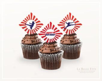AMERICAN NINJA WARRIOR Cupcake Toppers printable