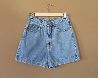 Waist 28  High Waisted Denim Shorts/90s Jean Shorts/90s Shorts /Levis High Waisted Denim Shorts/Levis Cutoffs /Denim Cutoffs/Jean